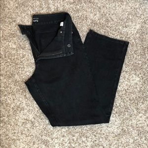 Black cold water creek straight leg jeans Size 14
